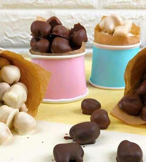 Pipoca com Chocolate